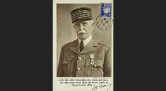 W2-FR522-E3 : 1943 - CM  'Buste de face Pétain - Vichy' YT 522