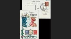 W2-F519-20-E1B : 1944 - CM 'Mon drapeau - 88 ans Mal Pétain' TP YT 519-20