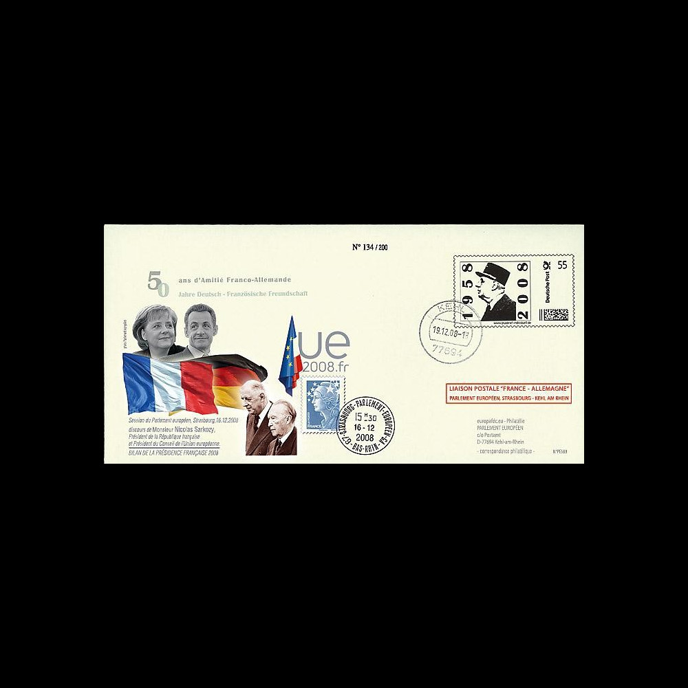 PE569 T2 : 2008 - PAP 'de Gaulle' liaison Allemagne-Strasbourg - Merkel