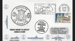91NAV-FR08 : 1994 - Pli naval 'Frégate furtive F710 LA FAYETTE'