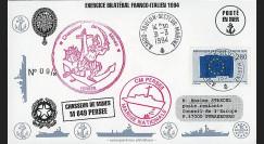 91NAV-FR27 : 1994 - Pli naval 'Chasseur de mines M648 PERSEE'