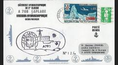 91NAV-FR28 : 1994 - Pli naval 'Bâtiment hydrographique A793 LAPLACE'