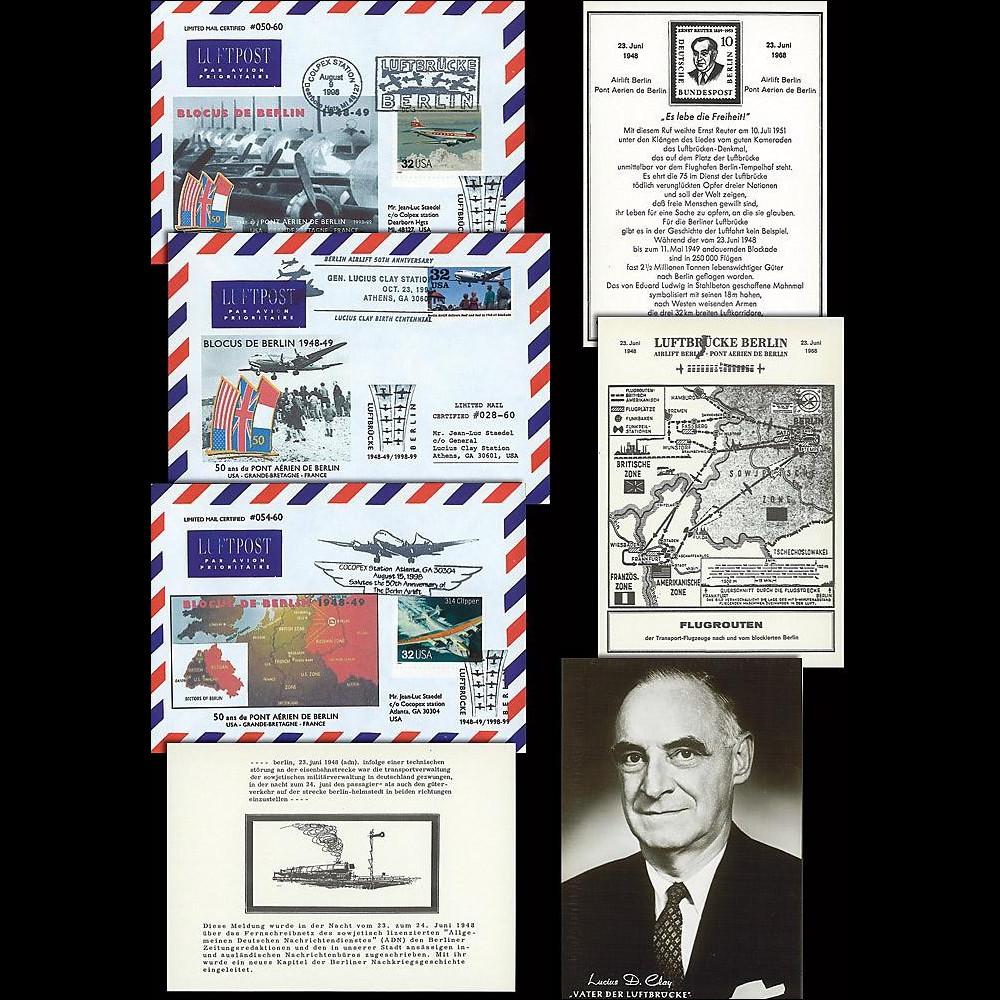 BERL98-1-3COL : 1998 - Collection '50 ans Blocus de Berlin'