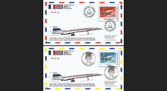 CO-RET40-41 : 2009 : 2 FDC '40 ans 1er vol Concorde 001' - Toulouse