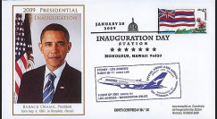 A380-77 T1 : 2009 - FDC USA 'Investiture de Obama' - Hawaii