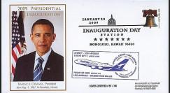 A380-77T2 : 2009 - FDC USA 'Investiture de Obama' - Hawaii