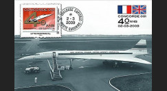 CO-RET40C : 2009 : CM '40 ans 1er vol Concorde 001' - Lettre prio 20g
