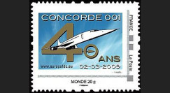 CO-RET41N : 2009 : TPP '40 ans 1er vol Concorde 001' - Monde 20g