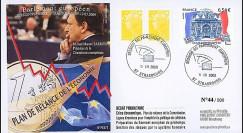 PE573 : 2009 - FDC Session Parlement Eur. 'Plan de relance économique'