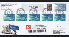 PE540a : 2007 - PAP TGV Est RECO '1er jour mise en service TP TGV Est'