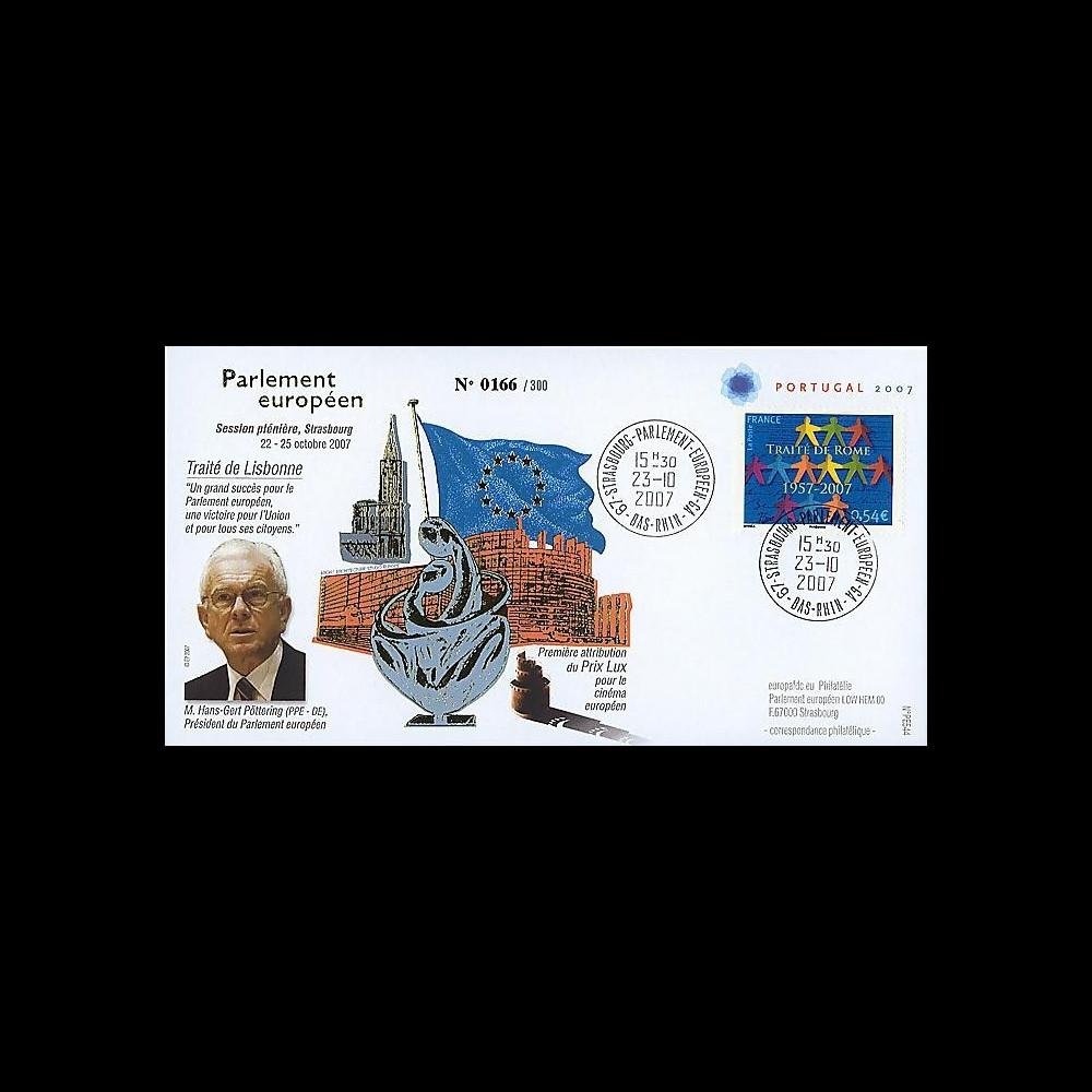 PE544 : 2007 - FDC Parlement européen 'Traité de Lisbonne'