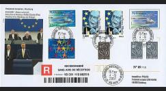 PE542a : 2007 - FDC Reco Parlement européen 'Discours Pdt portugais M. Silva'