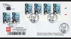 PE541A : 2007 - FDC RECO Parlement eur. 'Visite M. Socrates'