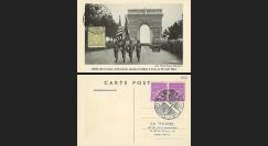 W2-F623-E1 : 1944 - Carte Maxi 'Libération de Paris' TP YT 623
