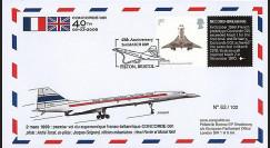CO-RET42 : 2009 - FDC '40 ans 1er vol Concorde 001' Gde-Bretagne