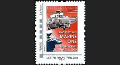 OTAN 09-5N : 2009 - TPP 'Marine One - Sommet OTAN' - Lettre prio