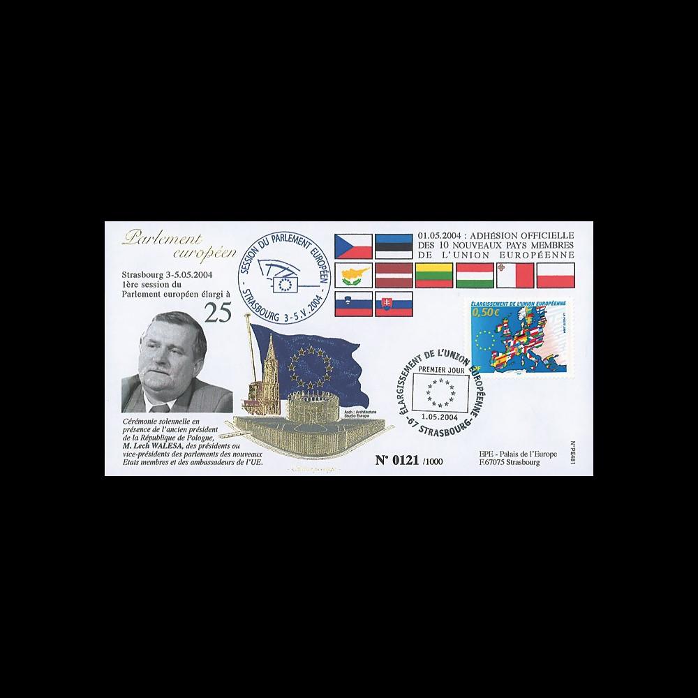 """PE481 : 01.05.2004 - FDC Parlement européen """"Elargissement de l'UE à 25 Etats membres"""""""