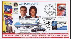 OTAN 09-3 : 2009 - Pli 'Sommet OTAN - Michelle & Barack Obama' Entzheim