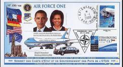 OTAN 09-4 : 2009 - Pli 'Sommet OTAN - Michelle & Barack Obama' Entzheim