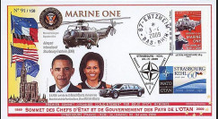 OTAN 09-5 : 2009 - Pli 'Sommet OTAN - Michelle & Barack Obama' Entzheim