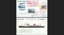"FRANCE-62 : 1962 - FDC ""Voyage inaugural Le Havre - NY"" du paquebot France"
