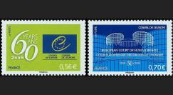 CE60-PJ-NF : 2009 - Timbres de service du Conseil de l'Europe