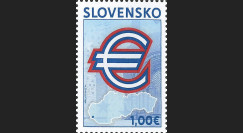 PE571N : 2009 - Timbre-poste Slovaquie 'Introduction de l'Euro'