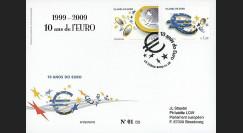 PE570-PO : 2009 - FDC Portugal '1er Jour TP 10 ans de l'Euro'