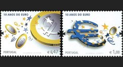 PE570-PO-N : 2009 - 2 valeurs TP Portugal '10 ans de l'Euro'