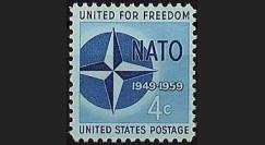 OTAN7 : 1959 - timbre-poste USA '10 ans OTAN 1949-1959'