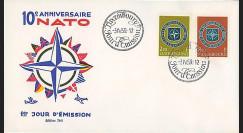 OTAN10 : 1959 - FDC 1er Jour Luxembourg '10 ans OTAN 1949-1959'