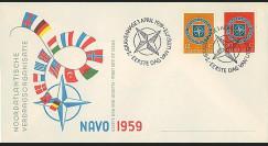 OTAN11 : 1959 - FDC 1er Jour Pays-Bas '10 ans OTAN 1949-1959'