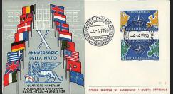 OTAN12 : 1959 - FDC 1er Jour Italie '10 ans OTAN 1949-1959'
