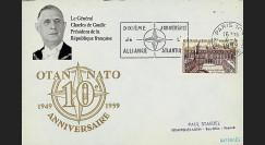 OTAN14-1 : 1959 - FDC France '10 ans OTAN + conférence de Gaulle'