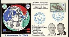 OTAN14-4 : 1959 - FDC France '10 ans OTAN - de Gaulle / Eisenhower'