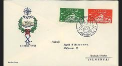 OTAN13 : 1959 - FDC 1er Jour Turquie '10 ans OTAN 1949-1959'
