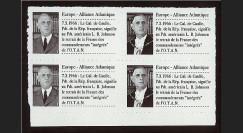 AP55V4 : 1966 - Vignettes 'de Gaulle & retrait du commandement de l'OTAN'