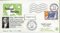 AP55-T2 : 1966 - FDC PE 'la France se retire de l'OTAN & élection Pdt Poher'