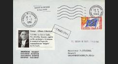 AP55-T2EO : 1966 - Env. entête PE 'la France se retire de l'OTAN & élection Pdt Poher'