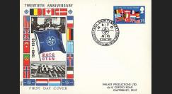 OTAN21 : 1969 - FDC 1er Jour Grande-Bretagne '20 ans OTAN 1949-1969'