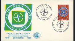 OTAN24-T1 : 1969 - FDC Belgique '20 ans OTAN 1949-1969' - Bruxelles