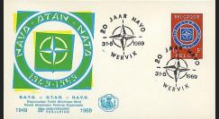 OTAN24-T2 : 1969 - FDC Belgique '20 ans OTAN 1949-1969' - Wervik