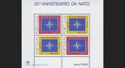 OTAN30BN : 1979 - Bloc-feuillet 4 TP Portugal '30 ans OTAN'