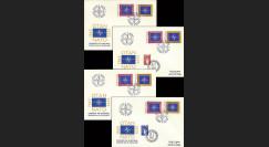 OTAN30-T2-5 : 1979 - 4 FDC 1er Jour Portugal '30 ans OTAN' oblit. complt.