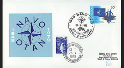 OTAN29-T2 : 1979 - FDC 1er Jour Belgique '30 ans OTAN' - Evergem