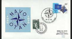 OTAN29-T5 : 1979 - FDC 1er Jour Belgique '30 ans OTAN' - Bruxelles S.H.A.P.E.