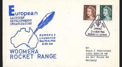 ELDO 1 : 1966 - FDC Woomera 'Fusée Europa I vol F4'