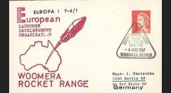 ELDO 3 : 1966 - FDC Woomera 'Fusée Europa I vol F6/1'