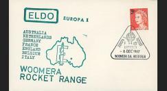 ELDO 4 : 1967 - FDC Woomera 'Fusée Europa I vol F6/2'