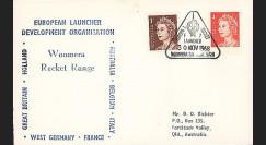 ELDO 5 : 1968 - FDC Woomera 'Fusée Europa I vol F7'